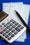 票据检查工资验证文字 免版税库存图片