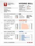 票据电水力发电实用程序 免版税库存照片