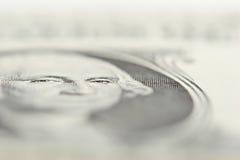 票据美元注视乔治一 库存图片
