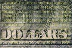 票据美元片段 免版税库存图片