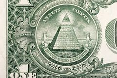票据美元金字塔 免版税库存照片