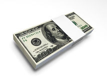 票据美元f1s装箱 免版税库存照片