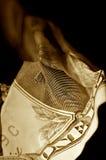 票据被弄皱的美元一 库存照片
