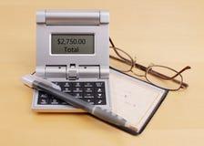 票据计算抵押 免版税库存照片