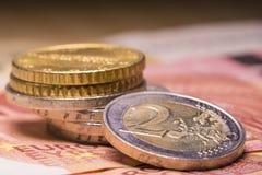 票据铸造欧元 免版税库存照片
