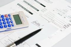 票据 免版税库存照片