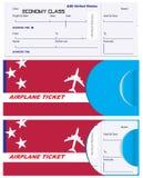 票的信封在美国飞机 库存照片