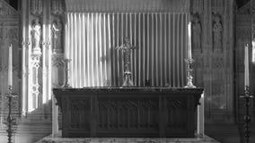 祭坛在布里斯托尔大教堂里 库存照片