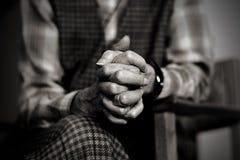 祷告哀痛 免版税库存照片