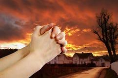 祷告战士 免版税库存图片
