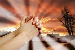 祷告战士 库存照片