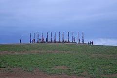 祷告柱子的看法 库存照片