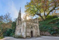 祷告的教会 在金塔Regaleira,葡萄牙 库存照片