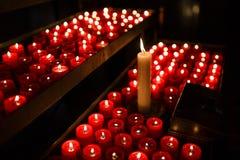 祷告的蜡烛 免版税图库摄影