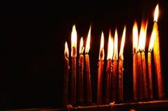 祷告蜡烛 免版税库存图片