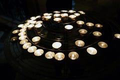 祷告蜡烛 库存照片