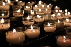 祷告蜡烛 免版税库存照片