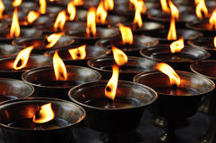 祷告蜡烛 图库摄影