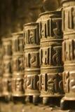 祷告西藏人轮子 图库摄影
