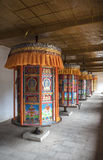 祷告西藏人轮子 免版税库存图片