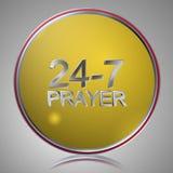 247祷告 向量例证
