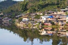 1949禁令中国共产党逃脱设立了洪・国民党mae北被填写的省rak难民结算儿子泰国泰国村庄是谁 免版税库存照片