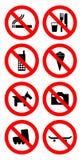 禁令符号 免版税库存图片