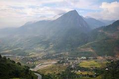 禁令Ho村庄, Sapa区,老街省,西北越南 库存图片