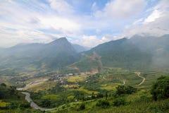 禁令Ho村庄, Sapa区,老街省,西北越南 图库摄影
