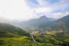 禁令Ho村庄, Sapa区,老街省,西北越南 免版税库存照片
