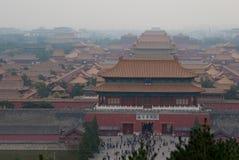 紫禁城在北京从金山Park2观看了 免版税库存照片