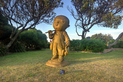 禁欲主义者-由海雕刻2014年 库存照片