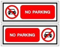 禁止停车标志标志,传染媒介例证,隔绝在白色背景标签 EPS10 向量例证