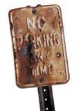 禁止停车生锈的符号 图库摄影