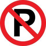 禁止停车符号 皇族释放例证
