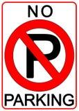 禁止停车符号 库存例证