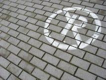 禁止停车路面符号 免版税库存图片