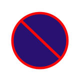 禁止停车任何时候签字,禁止停车 库存例证