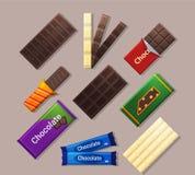 禁止巧克力浅深度的域 图库摄影
