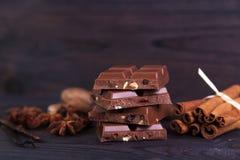 禁止巧克力浅深度的域 免版税库存照片