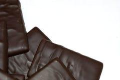 禁止巧克力浅深度的域 库存图片