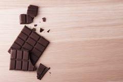 禁止巧克力黑暗 库存照片