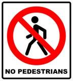 禁止没有Pedestrain标志传染媒介 免版税库存照片