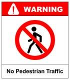 禁止没有Pedestrain标志传染媒介 库存照片