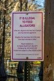 禁止牌在阿比维尔,路易斯安那 图库摄影