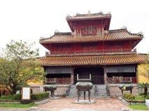 禁止的宫殿,世界文化遗产在颜色市越南 免版税库存图片