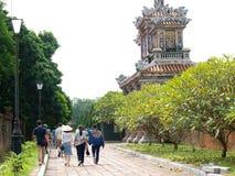 禁止的宫殿,世界文化遗产在颜色市越南 库存图片