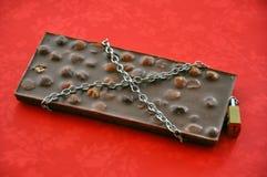 禁止的巧克力食物 库存照片