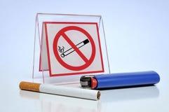 禁止的抽烟 库存照片