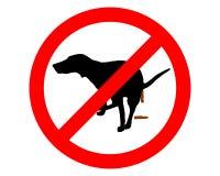 禁止的狗 库存图片